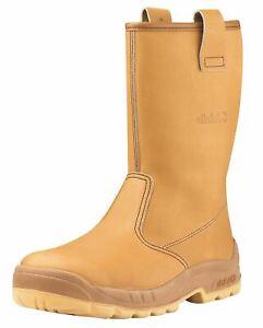 Jallatte Jalaska J0266 Safety Rigger Toecap Leather Boots Tan Brown