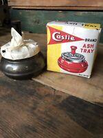 Vintage Castle Brand -  Rotary Ash Tray 21B -Gray in Original Box - NEW - NOS