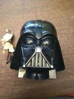 VINTAGE Star Wars DARTH VADER Rebel Forces Laser Game, PLUS Qui-Gon Jinn toy