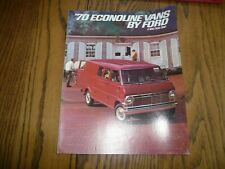 1970 Ford Econoline Vans E-100 E-200 E-300 Sales Brochure - Vintage