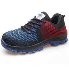 Mens Safety Working Shoes Lightweight Breathable Steel Toe Construction Sneakers