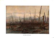 WWI Bataille de l'Aisne Falaise de Craonne de François Flameng ILLUSTRATION
