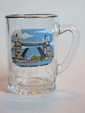 Mini Jarra de Cerveza Vidrio ~ Tower Bridge Londres Inglaterra ~ ~ Barco
