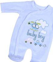BabyPrem Premature Tiny Small Baby Boys Girls Clothes Velour Sleepsuit 3 - 8lb