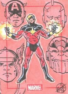 Marvel 75th Anniversary SketchaFEX Captain Mar-Vell Sketch Card By Mitch Ballard