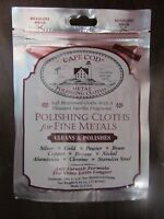 Cape Cod metal Polishing Cloths Package of 2. #88821  NEW
