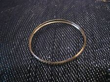 Silver tone metal bangle bracelet lightweight rope decoration approx 2½ ins wide