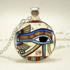 1pcs Ancient Egypt Eye Horus Tibet silver pendant chain Necklace Jewelry gift