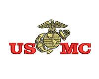 USMC Marine Corps EGA emblem Embroidered Polo Shirt