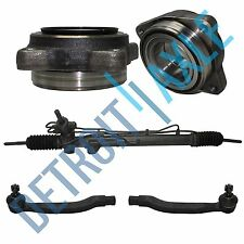 Rack and Pinion + 2 Front Wheel Bearings + Outer Tie Rod Ends 2.3L