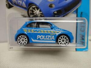 Hot Wheels FIAT 500 Blue POLIZIA Rare ERROR HIDDEN TH Treasure Hunt