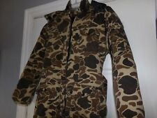 Vintage Winchester Insulated Camo Coveralls with Hood Zippers Size M Hunting