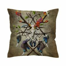Wolf Warrior Cushion Cover Wild Animal Pillow Case Tribal Cover Decorative Cover