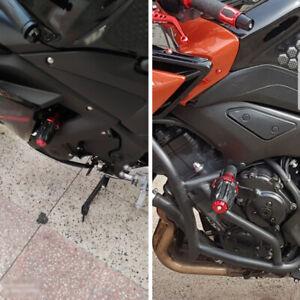 1 Pair Motorcycle Frame Slider Crash Protector 10MM Sport Bike Off-road Bike Kit