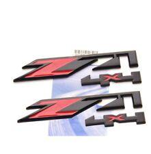 2x OEM Black Red Z71 4x4 Emblem for Silverado Sierra Tahoe Suburban Matt Q UW