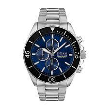GENUINE HUGO BOSS HB1513704 Ocean Edition Blue Dial Men's Chronograph Watch~£399