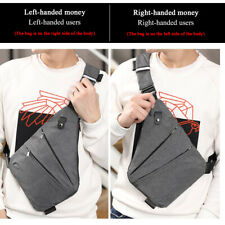Men's Business Oxford Sling Chest Pack Crossbody Anti Theft Travel Shoulder Bag