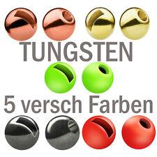 10 er Set Tungsten Perlen Beads versch Farben und Gewichte Forelle Angeln Binden