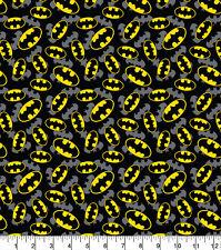 "Fabric Batman Logo DC Comics 100% Cotton 112cm (44"") wide Black"