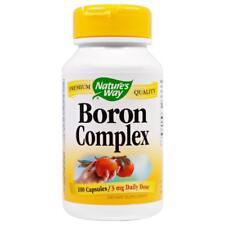 Nature's Way, Boron Complex, 3 mg, 100 Capsules, bones, nerves health