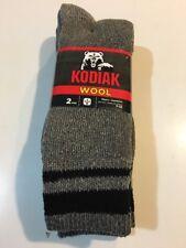 Mens Wool Socks 2 Pairs By Kodiak Shoe Size 7-12 Charcoal