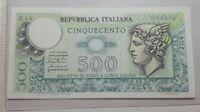 500 lire 1966 Banconota Fds con numeri bassi