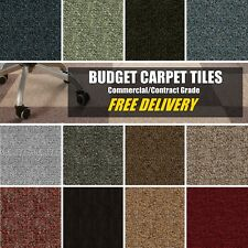 SELECT B&Q Commercial Contract CARPET TILES Retail Domestic Tufted Loop Bitumen