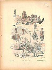 Croquis de Guerre Ruines Ypres bataille de Passchendaele Lucien Jonas 1915 WWI