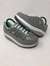 Skechers Women's Size 9 Gray & Green Shape Ups 2.0 Comfort Stride Sneaker Shoe