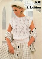 """Sunbeam 1388  Lady's Cable and Lace Top, 1st Edition DK to fit 32 - 38 """" Bust"""