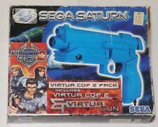 SEGA Saturn Virtual Cop 2 Light Gun - BOXED - AUS CODED OZISOFT - RARE - ede