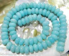 "5x8mm Light Blue Brazilian Aquamarine Gems Loose Beads 15""AAA+"
