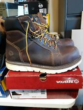 "Men's Wolverine 6"" I-90 Durashocks Wedge Boots 9 M Free Shipping #52"