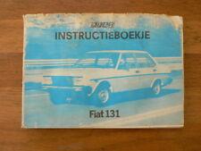 FIAT 131 HANDLEIDING INSTRUCTIEBOEKJE OWNER'S MANUAL MIRAFIORI,SUPER,RACING