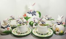 Figural Bunny Rabbit Childs Tea Set 20 pc Complete