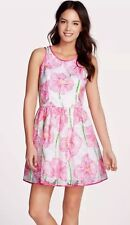 Lilly Pulitzer Darcelle Fit Flare Full Floral Embroidered Dress Lined Sleeveless
