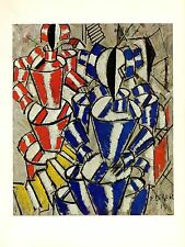 """1976 Vintage FERNAND LEGER """"THE STAIRCASE"""" FABULOUS COLOR offset Art Lithograph"""