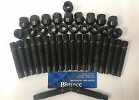 ALLOY WHEEL STUDS + OPEN NUTS CONVERSION 75mm M12X1.5 X 20 FITS BMW 72.6