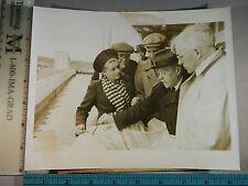 Rare Historical Original VTG 1945 Irving Langmuir Scientists Gather Russia Photo