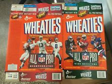 Wheaties Cereal Boxes Dan Mario Elway troy Aikman Jerry Rice Reed Brown NFL 96