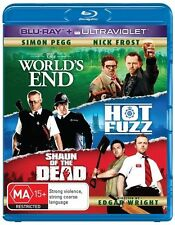 The World's End / Hot Fuzz / Shaun of the Dead (UV) NEW B Region Blu Ray