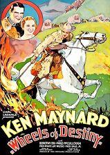 Wheels of Destiny (1934) (DVD) Ken Maynard, Dorothy Dix, & Philo McCullough