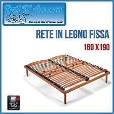 RETE A DOGHE IN LEGNO 160X190 MATRIMONIALE IN FAGGIO NATURALE  AMMORTIZZATA