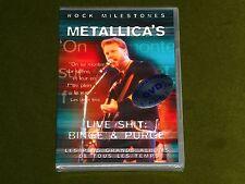 METALLICA LIVE SHIT ROCK MILESTONES DOCUMENTARY INTERVIEW RARE FOOTAGE DVD New
