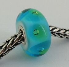 Authentic Trollbeads Murano Glass Turquoise Bubbles Bead Charm, 61168 New