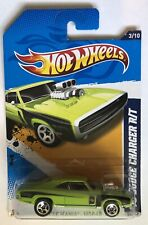 2012 Hot Wheels Muscle Mania - Mopar 3/10 '70 DODGE CHARGER - Green w/5Sp - 12-2