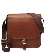 Fossil Men's Buckner Leather City Bag ‑ Brown (COGNAC) MBG9374222, NEW