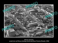 OLD LARGE HISTORIC PHOTO OF FITZROY VICTORIA AERIAL VIEW OF VICTORIA Pde c1960