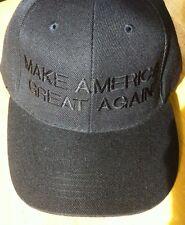 Republican MAKE AMERICA GREAT AGAIN Black ON Black Donald Trump Hat EMBROIDERED
