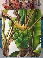 Banana Tree a Piece of Bali Fine Art Painting Hand Painted Art